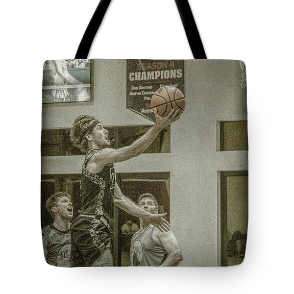 Tote Bag featuring the photograph The Layup by Ronald Santini