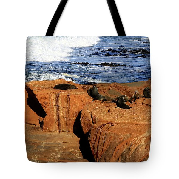 The Lazy Lounging Seals Tote Bag