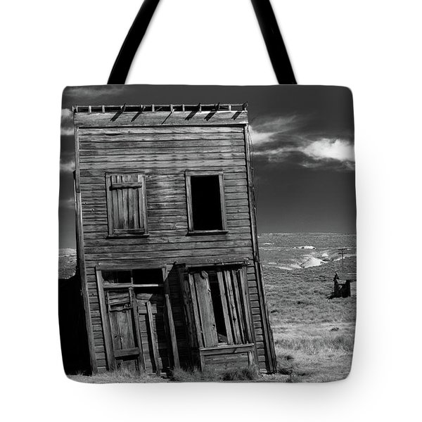 The Leaning Tower Of Bodie Tote Bag by Marius Sipa