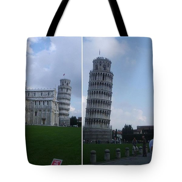 The Leaning Tower Of Pisa Tote Bag by Patsy Jawo