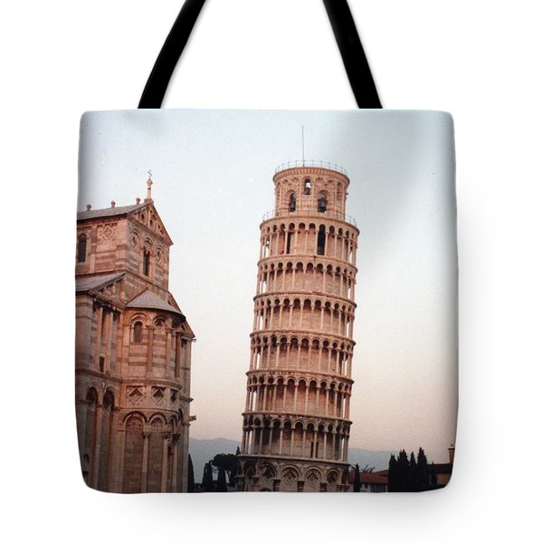 The Leaning Tower Of Pisa Tote Bag by Marna Edwards Flavell