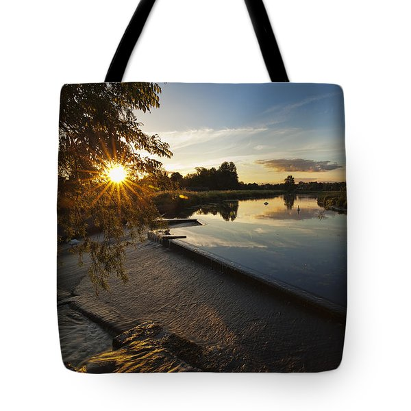 The Leap At Sunset Tote Bag