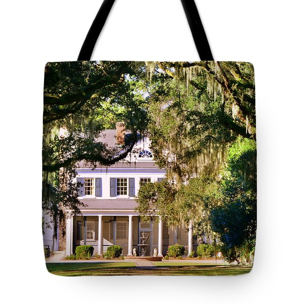 Tote Bag featuring the photograph The Legare-waring House At Charles Town Landing by Lisa Wooten