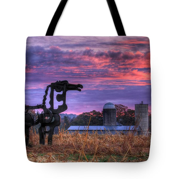 Tote Bag featuring the photograph The Legend Lives On The Iron Horse Art by Reid Callaway