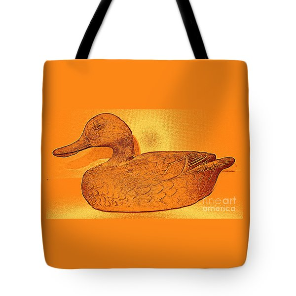 The Legend Of The Golden Duck Tote Bag by Richard W Linford