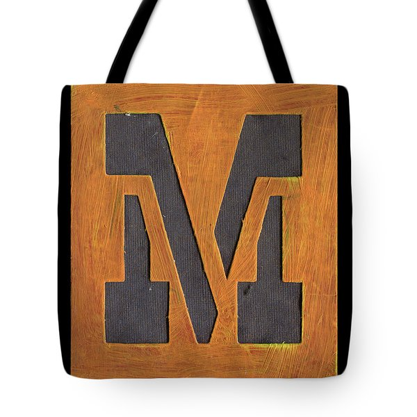 The Letter M Tote Bag