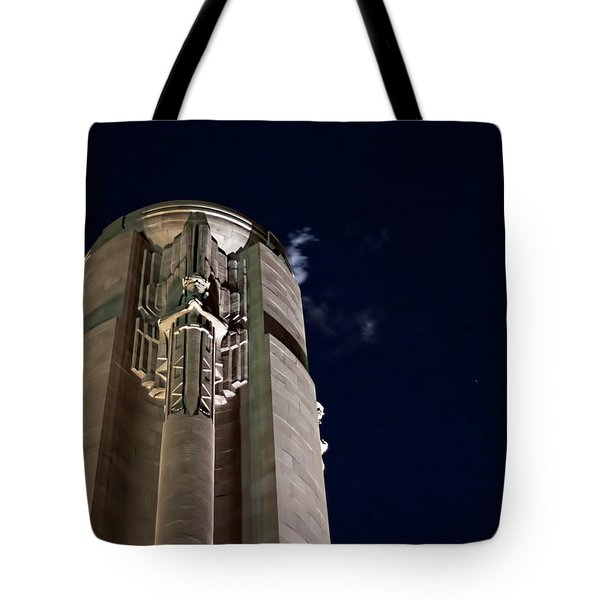 The Liberty Memorial At Night Tote Bag
