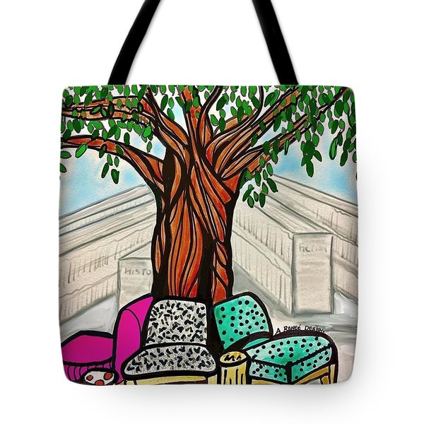 The Libray Reading Tree Tote Bag