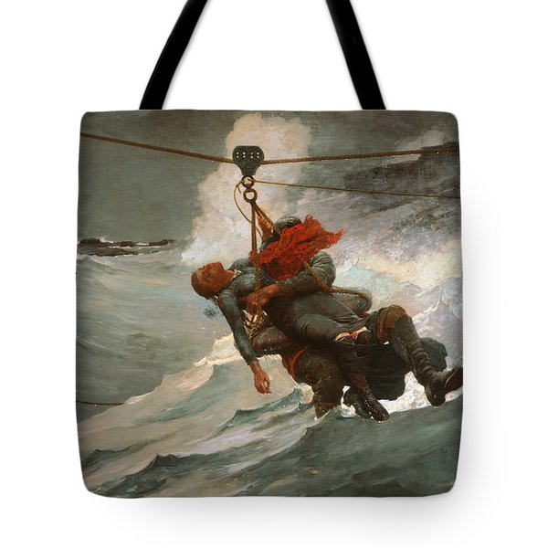 The Life Line Tote Bag by Winslow Homer