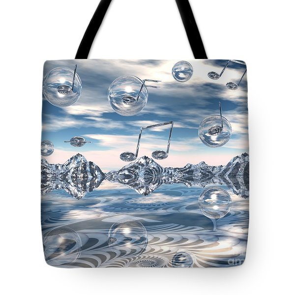 Tote Bag featuring the digital art The Light Bender Cantata by Michelle H