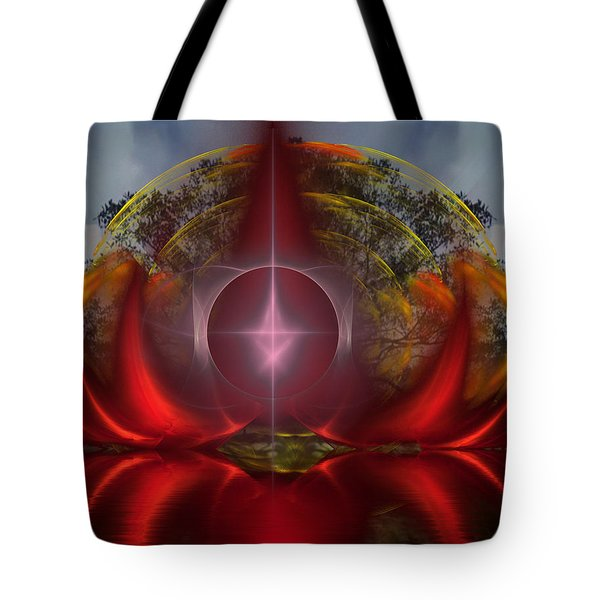 Tote Bag featuring the digital art The Light Beyond Deaths Door by Mario Carini
