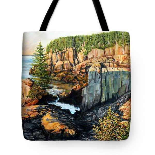 The Light Dawns On West Quoddy Head Tote Bag
