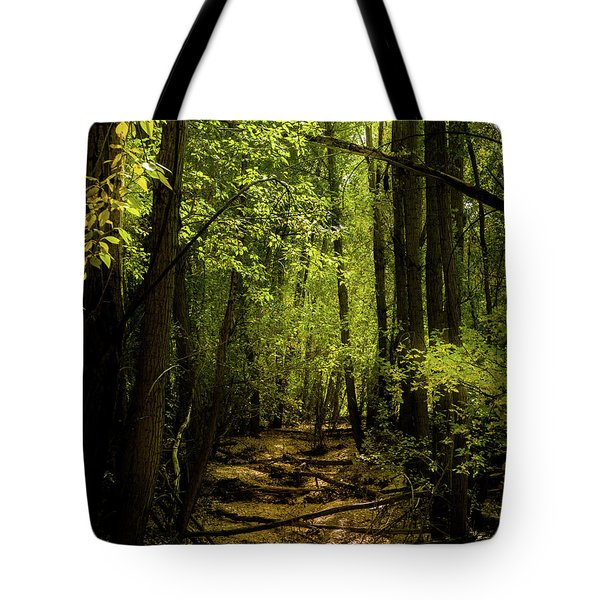 The Light In The Forest Tote Bag