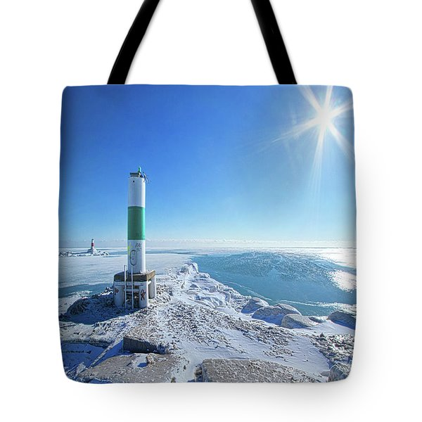 Tote Bag featuring the photograph The Light Keepers by Phil Koch