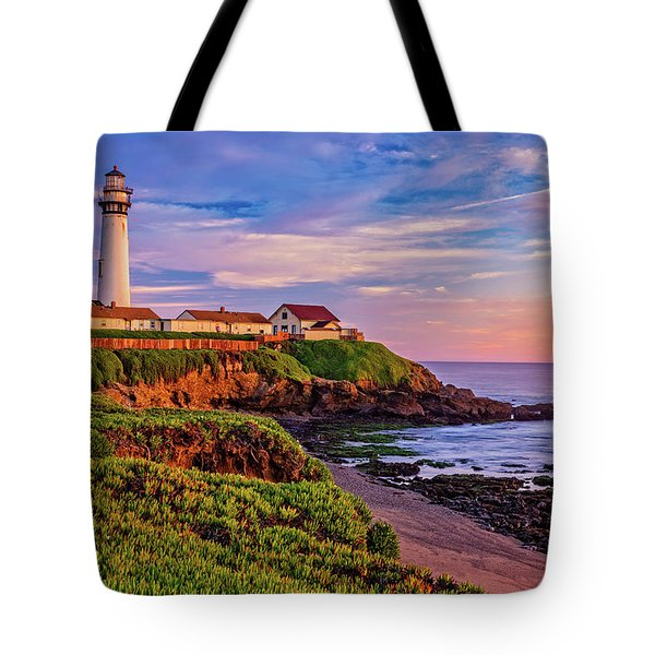 Tote Bag featuring the photograph The Light Of Sunset by John Hight