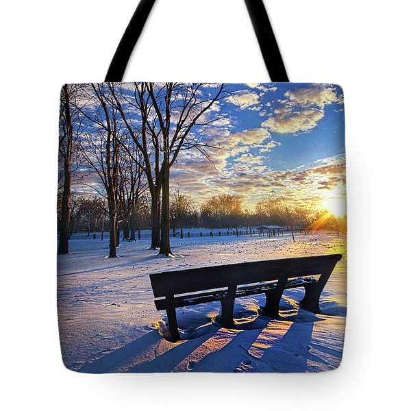 Tote Bag featuring the photograph The Light That Beckons by Phil Koch