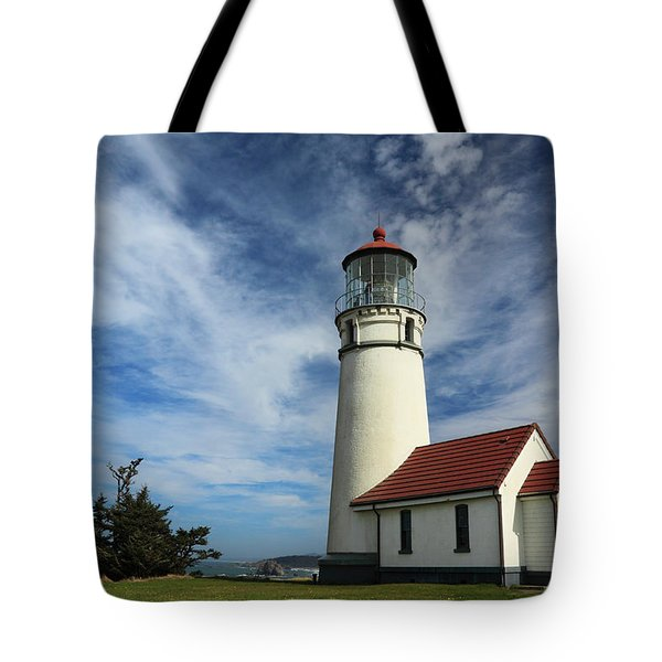 The Lighthouse At Cape Blanco Tote Bag