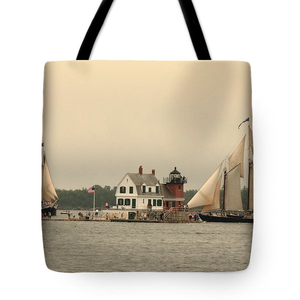 The Lighthouse At Rockland Tote Bag