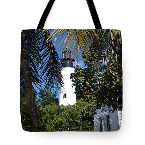 The Lighthouse In Key West II Tote Bag