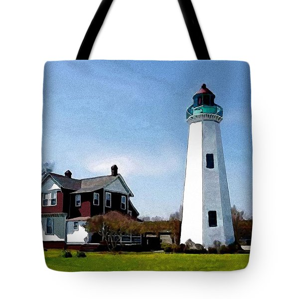 The Lighthouse Tote Bag by Jann Paxton