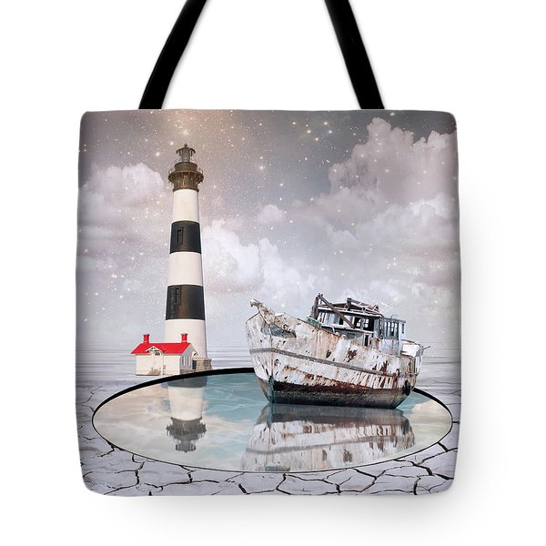 Tote Bag featuring the photograph The Lighthouse by Juli Scalzi