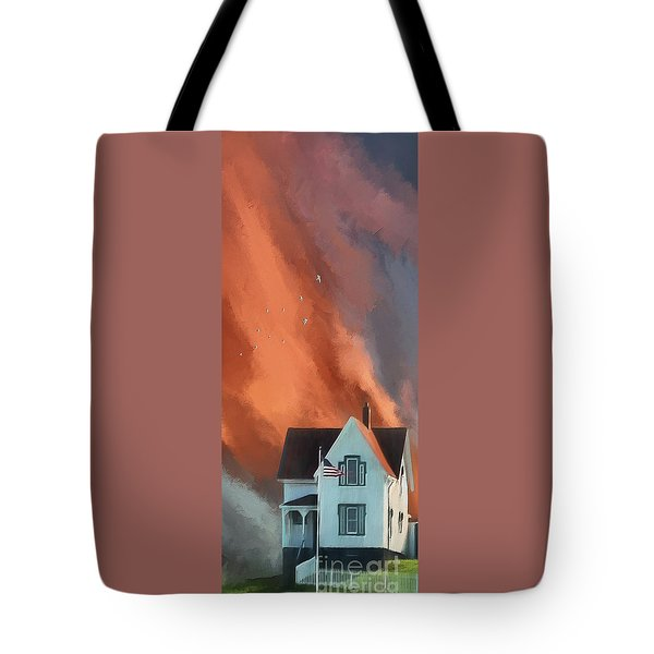 The Lighthouse Keeper's House Tote Bag by Lois Bryan