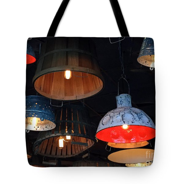 The Lights Above Tote Bag