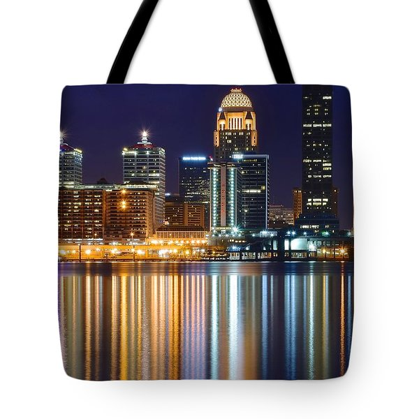 The Lights Of A Louisville Night Tote Bag