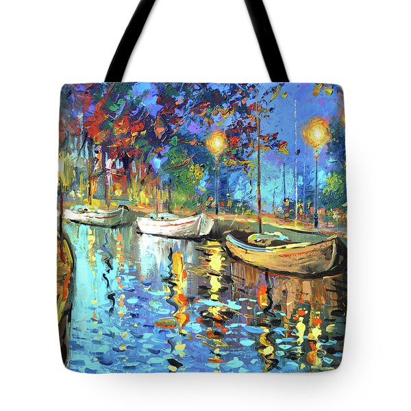 The Lights Of The Sleeping City Tote Bag