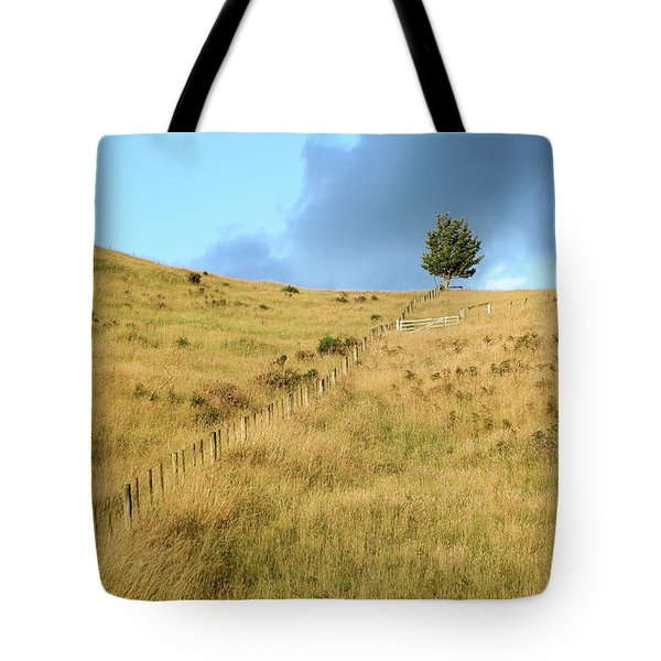 The Lines The Tree And The Hill Tote Bag by Yoel Koskas