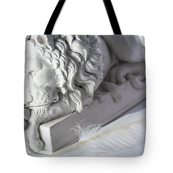 The Lion And The Feather Tote Bag
