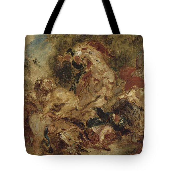 The Lion Hunt Tote Bag
