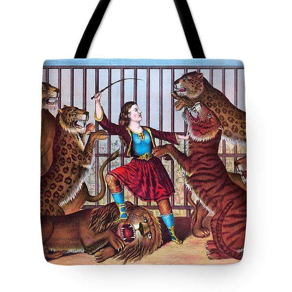 The Lion Queen Print, 1874 Tote Bag