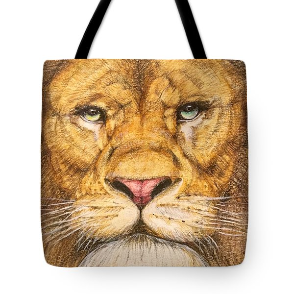 The Lion Roar Of Freedom Tote Bag by Kent Chua