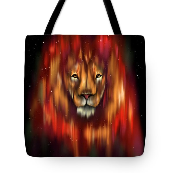 The Lion, The Bull And The Hunter Tote Bag