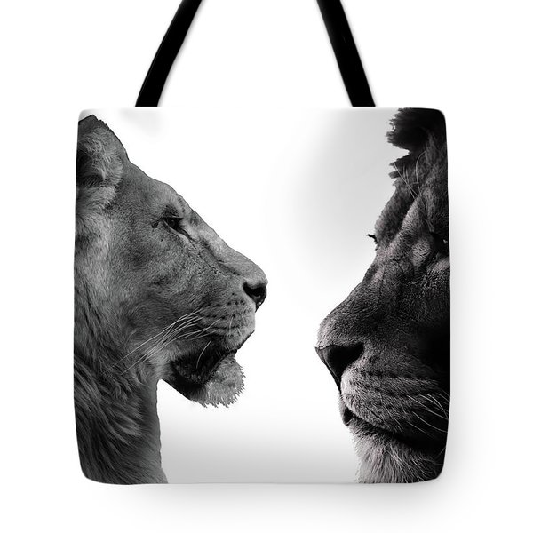 The Lioness And Lion Tote Bag