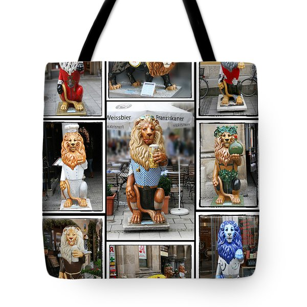 The Lions Of Munich Tote Bag