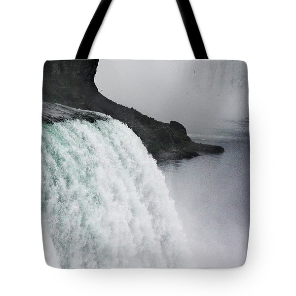 Tote Bag featuring the photograph The Liquid Curtain by Dana DiPasquale