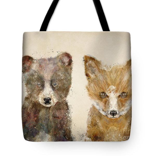 The Little Bear And Little Fox Tote Bag