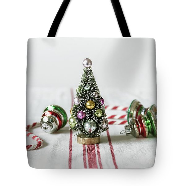 Tote Bag featuring the photograph The Little Christmas Tree by Kim Hojnacki