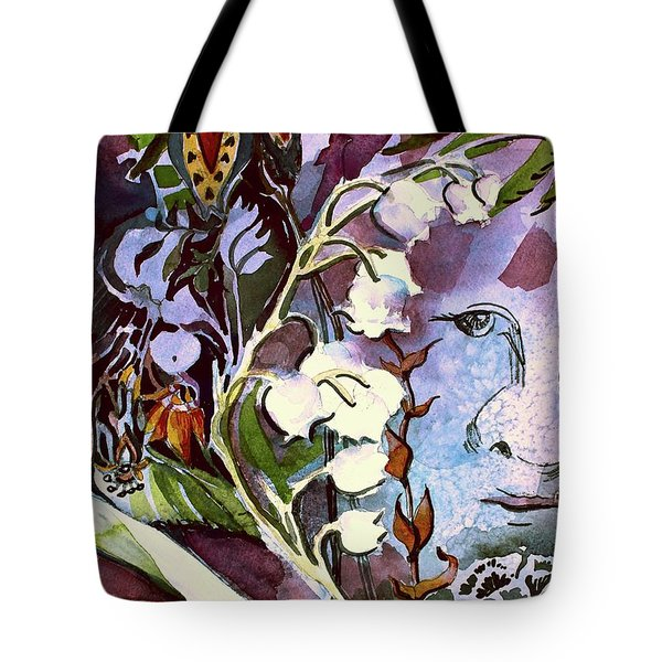 Tote Bag featuring the painting The Little Gardener by Mindy Newman