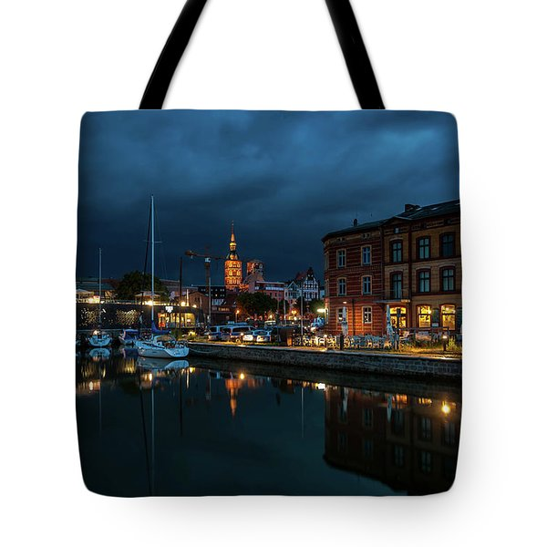 The Little Harbor In Stralsund Tote Bag