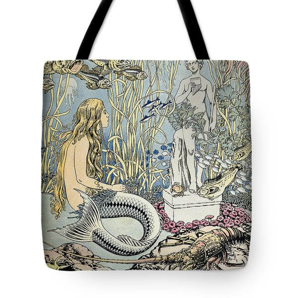 The Little Mermaid Tote Bag by Ivan Jakovlevich Bilibin