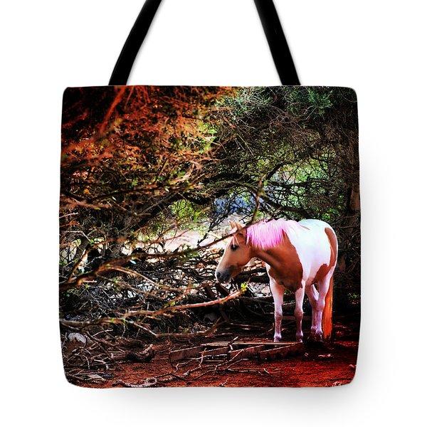The Little Pink Unicorn By Pedro Cardona Tote Bag by Pedro Cardona Llambias