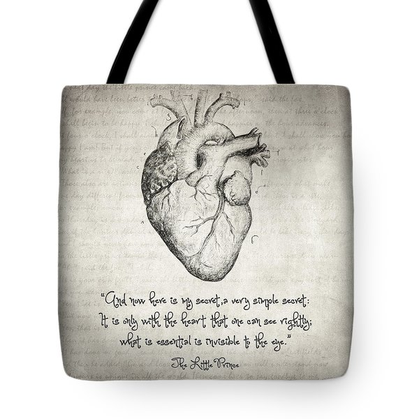 The Little Prince Quote Tote Bag