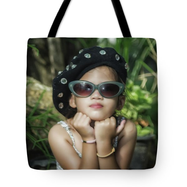 The Little Thinking Girl Tote Bag