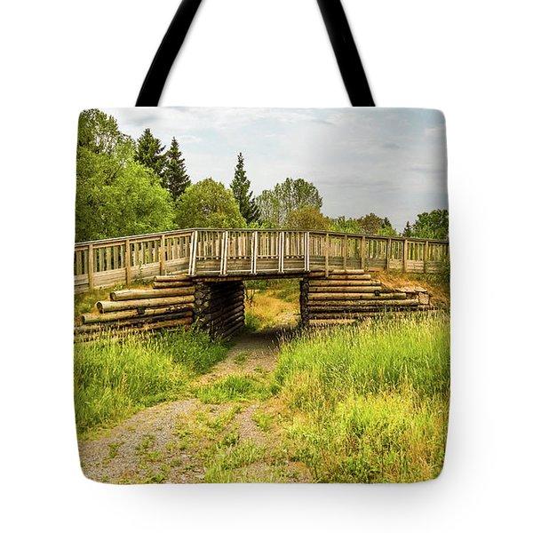 The Little Wooden Bridge Tote Bag