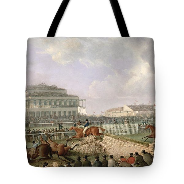 The Liverpool And National Steeplechase At Aintree Tote Bag