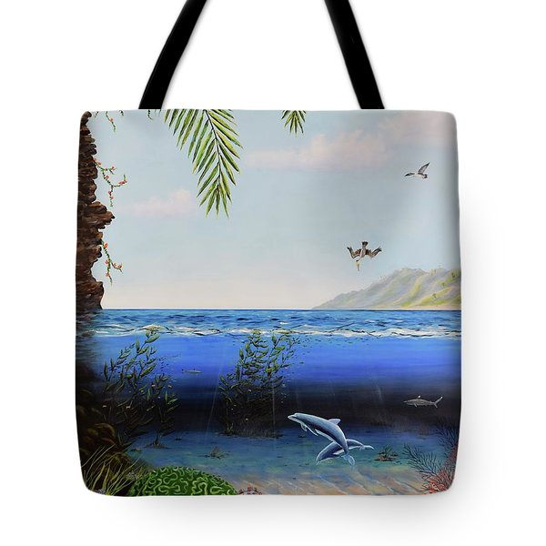 The Living Ocean Tote Bag