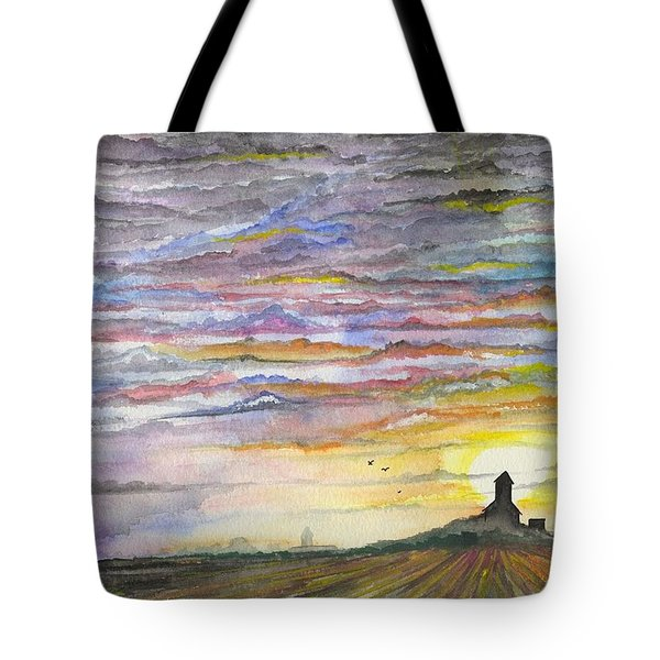 Tote Bag featuring the digital art The Living Sky by Darren Cannell